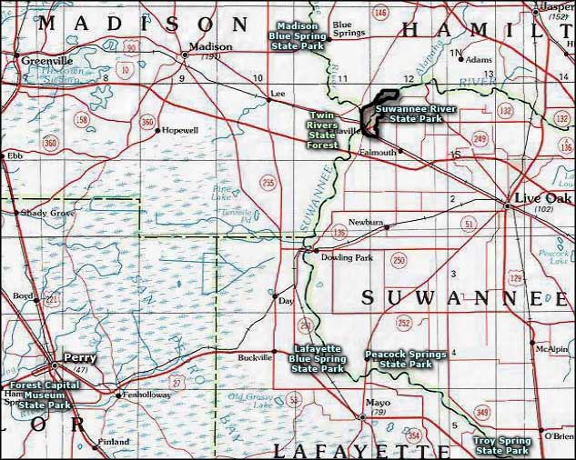 Twin Rivers State Forest area map