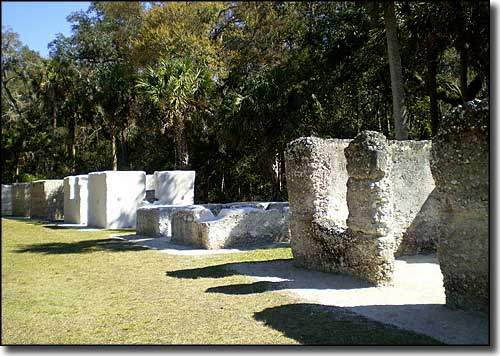 Remains of the slave quarters at Kingsley Plantation