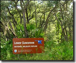 Lower Suwannee National Wildlife Refuge sign
