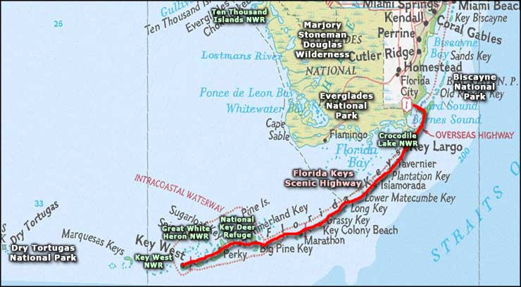 Florida Keys Scenic Highway area map