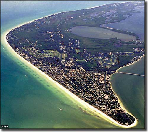 Sanibel Island, home of the JN Ding Darling National Wildlife Refuge