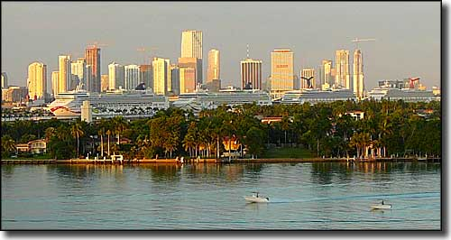 A 2008 view of the Miami skyline