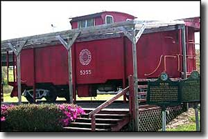 Red Caboose in downtown Waldo, Florida