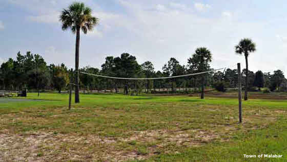 A public volleyball court in Malabar