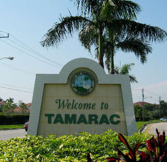 Welcome to Tamarac sign