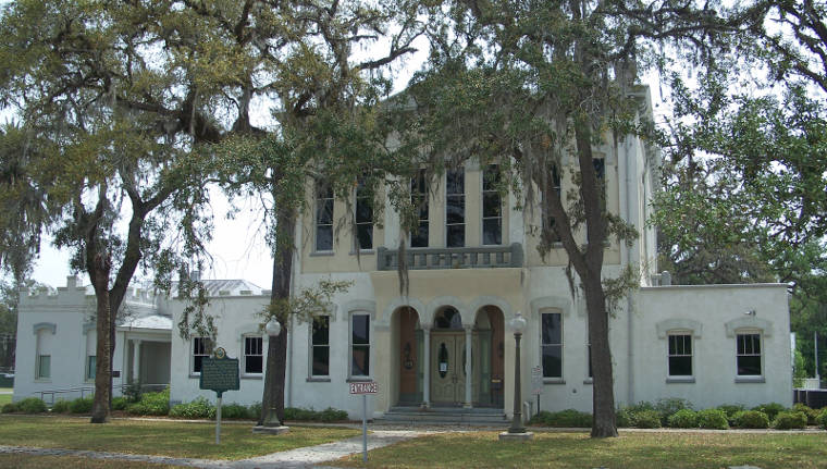 The old Clay County Courthouse