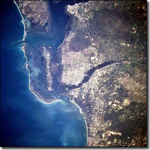 Cape Coral-Fort Myers from space