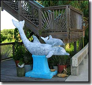 Dolphin statue on Dock Street in Cedar Key