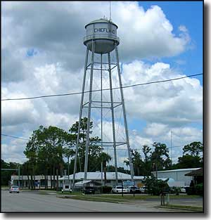 Chiefland water supply tower