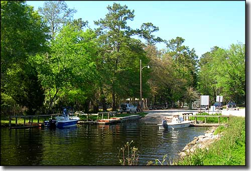 Levy County Park and Boat Ramp on the Waccasassa River