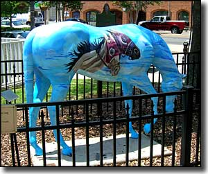 Horse statue in downtown Ocala