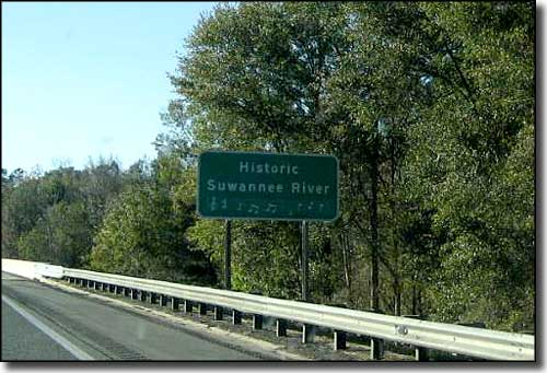 Sign denoting the Suwannee River