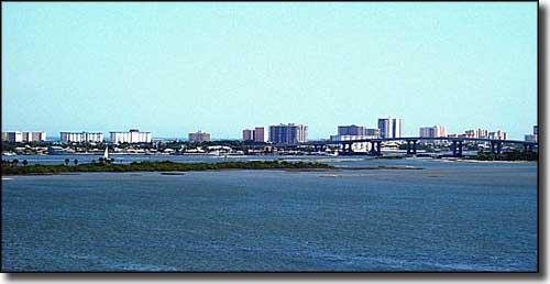 South Daytona from across the Intracoastal Waterway