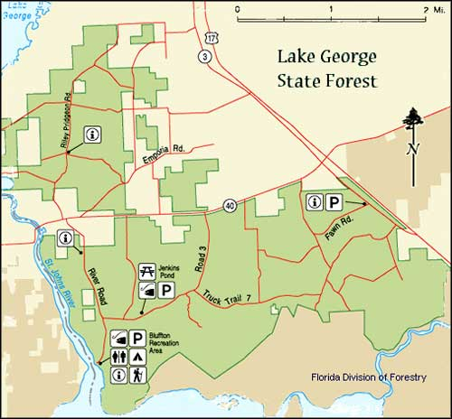 Lake George State Forest map