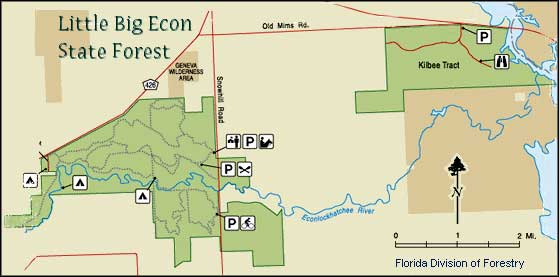 Map of Little Big-Econ State Forest