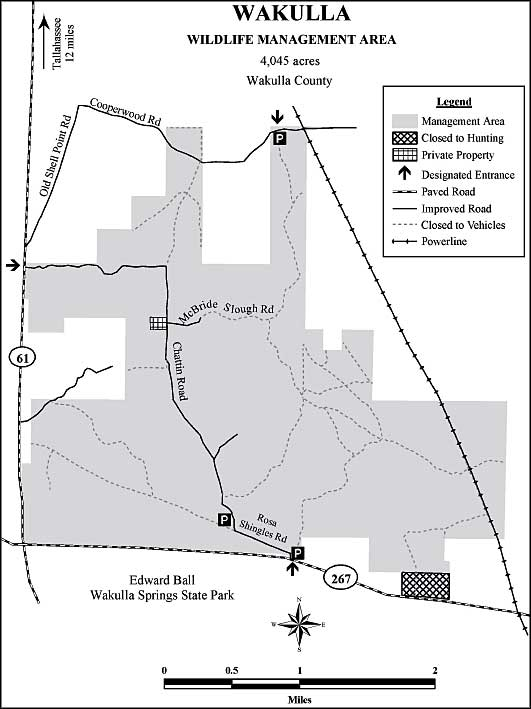 Map of Wakulla State Forest