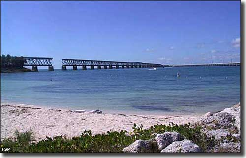 View of the old bridge from Calusa Beach