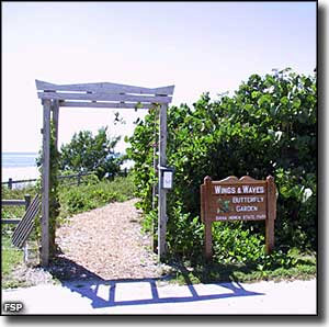 Entrance to the Wings and Waves Butterfly Garden at Bahia Honda State Park