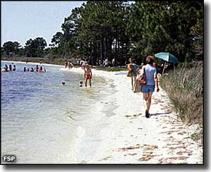 Beach area at Big Lagoon State Park