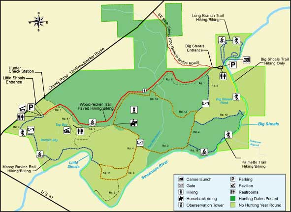 Big Shoals State Forest map