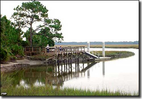 The kayak launch at Big Talbot Island State Park