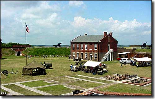 A World War II reenactment at Fort Clinch State Park