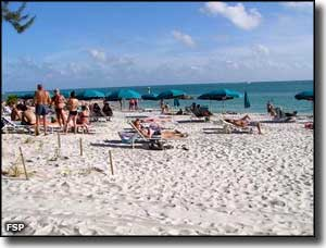 A beach scene at Fort Zachary Taylor Historic State Park