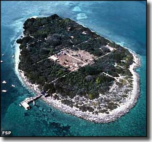 Aerial view of Indian Key Historic State Park