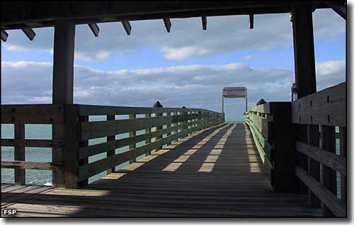 The dock at Indian Key Historic State Park