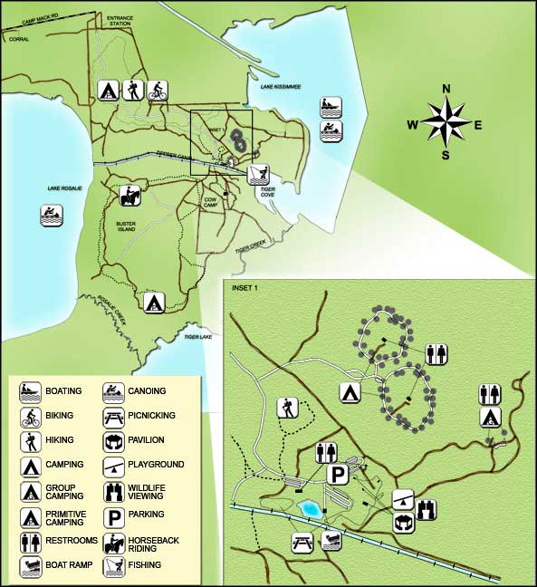 Florida State Park Map.Lake Kissimmee State Park Florida State Parks