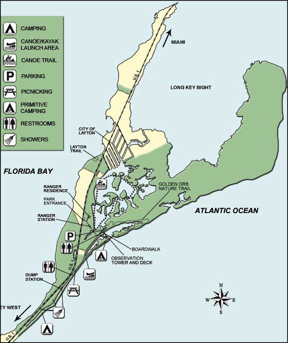Map of Long Key State Park