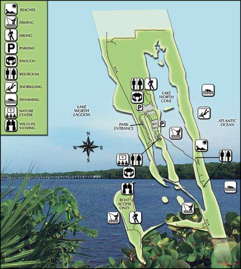 Map of John D. MacArthur Beach State Park