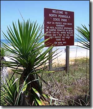 Entry sign for North Peninsula State Park