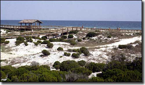Boardwalks make access to the beaches easier at Perdido Key State Park