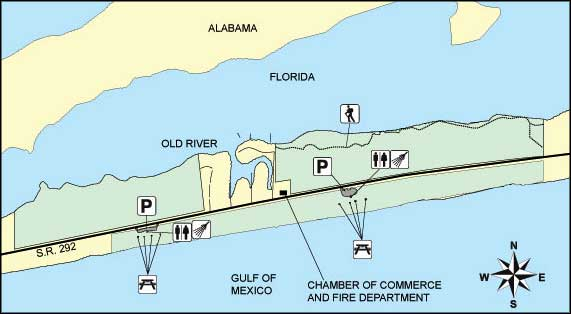 Map of Perdido Key State Park