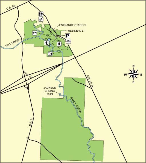 Map of Ponce de Leon Springs State Park