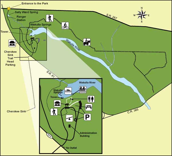 Map of Edward Ball Wakulla Springs State Park