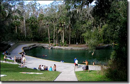 The swimming area at Wekiwa Springs State Park