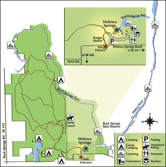 Map of Wekiwa Springs State Park
