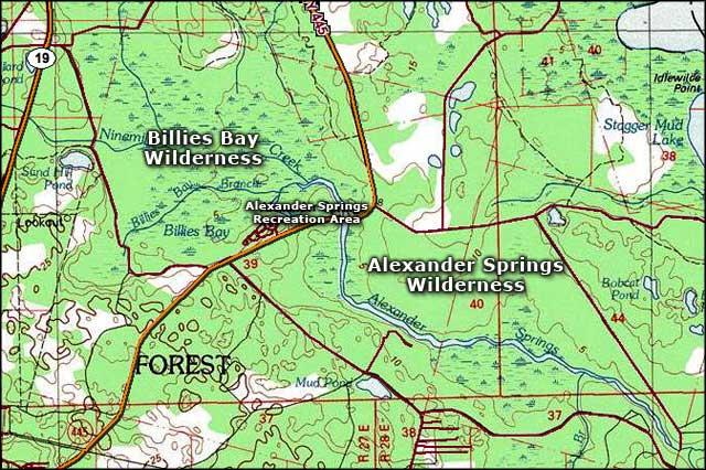 Billies Bay Wilderness area map