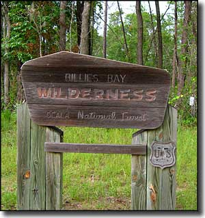 Boundary sign at Billies Bay Wilderness