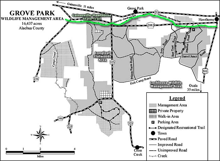 Map of Grove Park Wildlife Management Area